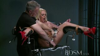 BDSM XXX Provoking sub gets Masters anger before squirting over the basement floor